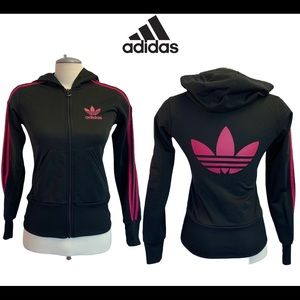 Adidas 3-Stripes Full Zip Hooded Track Top size S